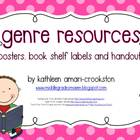 Genre Resources: Posters, Book Shelf Labels, Handouts