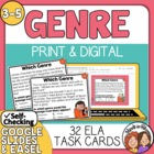Genre Task Cards: 32 Multiple Choice Cards for 8 Genres