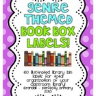 Genre-Themed Book Box Labels {Bright Polka Dots}