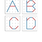 Geoboard Upper Case Letter Diagrams for Pre-k, Kindergarte