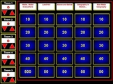 Geography Flash Jeopardy Review Game