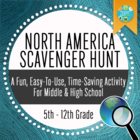 Geography: North American Scavenger Hunt_Introductory Activity