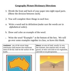 Geography Physical Features Picture Dictionary (Social Studies)