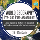 Geography Preassessment/Post-assessment For Beginning of Year