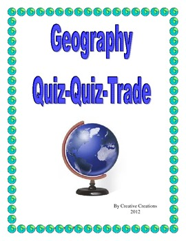Geography Quiz, Quiz, Trade