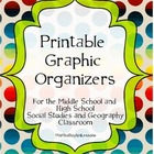 Geography & Social Studies Printable Graphic Organizers