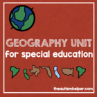 Geography Unit for Early Childhood or Children with Specia