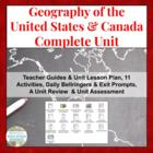 Geography of America & Canada COMPLETE UNIT