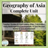Geography of Asia COMPLETE UNIT Physical & Human Geo CCSS