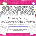 Geometric Shape Sort: Drawing, Naming, and Counting Sides