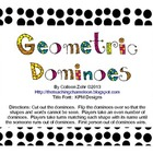 Geometric Shapes Dominoes to go with Geometric Shape Mini-Unit