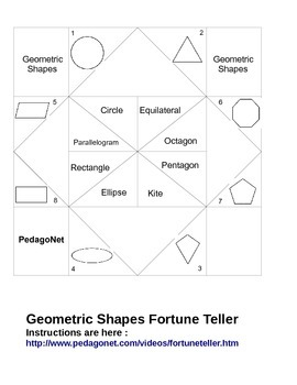 Geometric Shapes Fortune Teller
