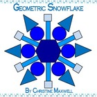 Geometric Snowflake for Winter or Christmas