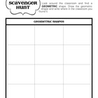 Geometric and Organic Shape Scavenger Hunt (Elementary Art Game)