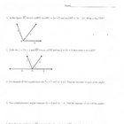 Geometry Angle of Measure & Proof Problems