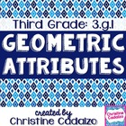 Geometry Attributes 3rd Grade Common Core Unit