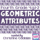 Geometry Attributes 4th Grade Common Core Unit