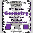 Geometry CCSS Pretest/Posttest for 3rd Grade