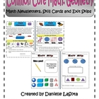 Geometry Common Core Standards:  Newsletters and Assessments