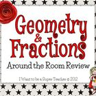 Geometry &amp; Fractions Around-the-Room Review Activity