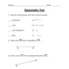 Geometry Fun Worksheets