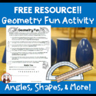 Geometry Fun for Students Activity: Angles, Shapes, Degrees