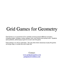 Geometry GridGames