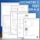 Geometry I Assessment  - CCSS