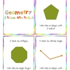 "Geometry - ""I Have..., Who Has...?"" cooperative learning cards"