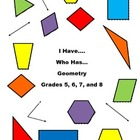 Geometry - I Have.....Who Has.....