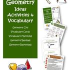 Geometry Ideas Activities and Vocabulary for Grades 3, 4, 5