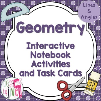 Geometry Interactive Notebook Activities and Task Cards (L
