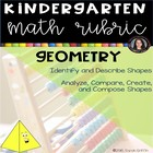 Geometry Kindergarten Math Common Core Rubric Checklist Shapes
