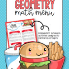 Geometry Math Menu