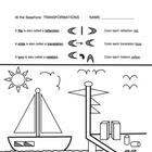 Geometry Math Picture Worksheets (Set of 2) Angles and Tra