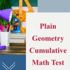 Geometry (Plane): A Cumulative Assessment