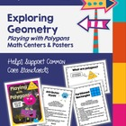 Geometry - Polygons - Math Centers &amp; Posters to Support th