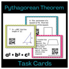 Geometry Pythagorean Theorem Task Cards with QR Codes