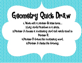 Geometry Quick Draw {FREEBIE}