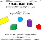 Geometry Riddle Shape Book