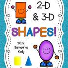 Geometry Shapes Unit 2-D and 3-D