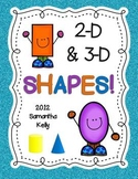 Shapes - Geometry Unit with 2D and 3D Shapes