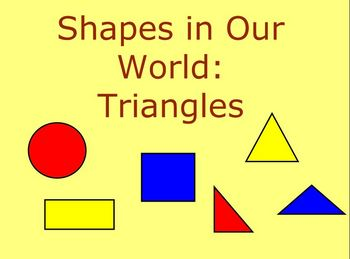 Geometry SmartBoard Activity: Shapes in Our World - Triangles K-2