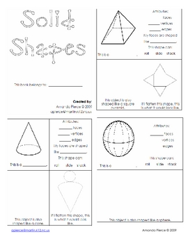 Geometry:  Solid Shapes/Figures Booklet