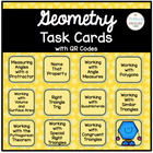 Geometry Task Cards with QR Codes Bundle