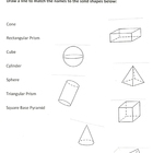Geometry Test *Last Page* matching 3D objects (Grade 3)