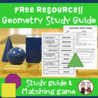 Geometry Unit Study Guide for Math
