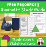FREE Geometry Unit Study Guide for Math