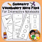 Interactive Notebook Geometry Vocabulary Flips (and quizzes)