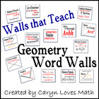 Geometry Word Wall~Walls that Teach~85+ Topics~Posters~For